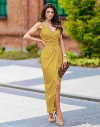 Φόρεμα - κώδ. 6135 - μουσταρδί