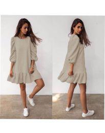 Φόρεμα - κώδ. 784 - μπεζ