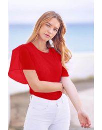Κοντομάνικο μπλουζάκι - κώδ. 527 - κόκκινο