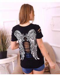Κοντομάνικο μπλουζάκι - κώδ. 3568 - μαύρο