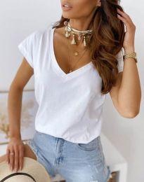 Κοντομάνικο μπλουζάκι - κώδ. 2389 - λευκό