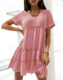 Φόρεμα - κώδ. 7205 - ροζ