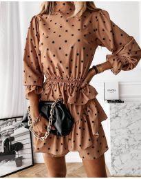 Φόρεμα - κώδ. 3665 - μπεζ