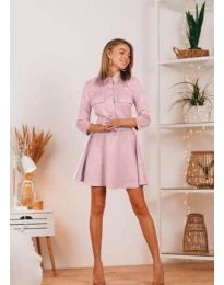 Φόρεμα - κώδ. 6619 - ροζ