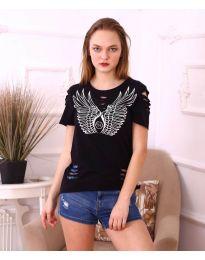 Κοντομάνικο μπλουζάκι - κώδ. 3567 - μαύρο