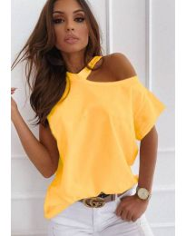 Κοντομάνικο μπλουζάκι - κώδ. 0599 - 2 - κίτρινο