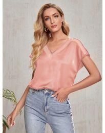 Κοντομάνικο μπλουζάκι - κώδ. 5754 - ροζ