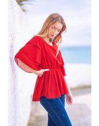 Κοντομάνικο μπλουζάκι - κώδ. 504 - κόκκινο