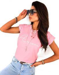 Κοντομάνικο μπλουζάκι - κώδ. 2517 - ροζ