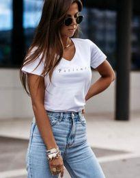 Κοντομάνικο μπλουζάκι - κώδ. 4500 - λευκό