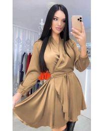 Φόρεμα - κώδ. 5931 - καφέ