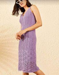 Φόρεμα - κώδ. 0351 - μωβ