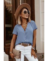 Κοντομάνικο μπλουζάκι - κώδ. 0606 - γαλάζιο
