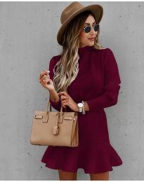 Φόρεμα - κώδ. 9140 - μπορντό