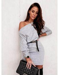 Φόρεμα - κώδ. 4442 - γκρι