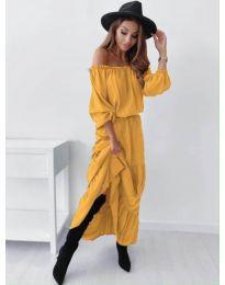 Φόρεμα - κώδ. 1317 - μουσταρδί