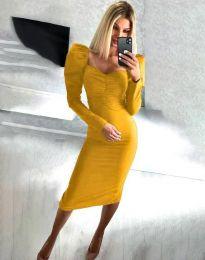 Φόρεμα - κώδ. 3865 - μουσταρδί