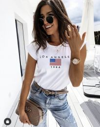 Κοντομάνικο μπλουζάκι - κώδ. 6336 - λευκό