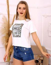 Κοντομάνικο μπλουζάκι - κώδ. 2489 - λευκό
