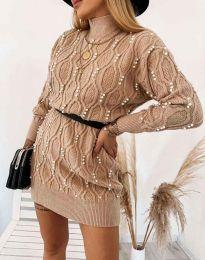 Φόρεμα - κώδ. 3904 - καπουτσίνο