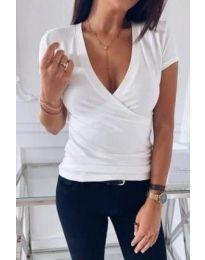 Κοντομάνικο μπλουζάκι - κώδ. 3310 - λευκό