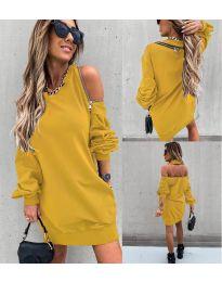 Φόρεμα - κώδ. 296 - μουσταρδί