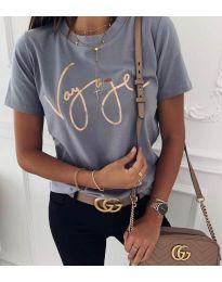Κοντομάνικο μπλουζάκι - κώδ. 3350 - γκρι