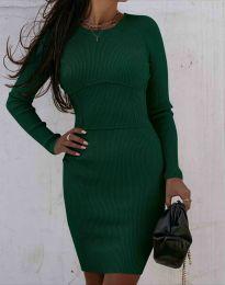 Φόρεμα - κώδ. 0891 - σκούρο πράσινο