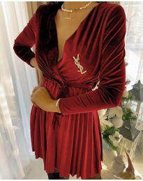 Φόρεμα - κώδ. 8619 - 5 - κόκκινο