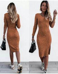 Φόρεμα - κώδ. 884 - καφέ