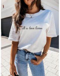 Κοντομάνικο μπλουζάκι - κώδ. 36755 - λευκό
