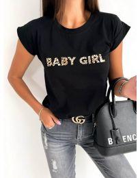 Κοντομάνικο μπλουζάκι - κώδ. 983 - μαύρο