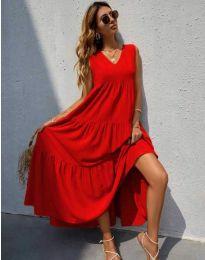 Φόρεμα - κώδ. 8149 - κόκκινο