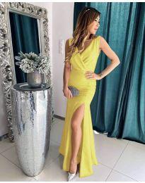 Φόρεμα - κώδ. 1419 - κίτρινο
