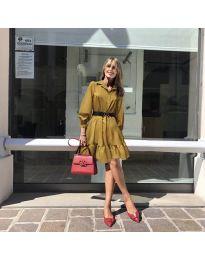 Φόρεμα - κώδ. 960 - μουσταρδί