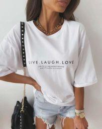 Κοντομάνικο μπλουζάκι - κώδ. 5056 - λευκό