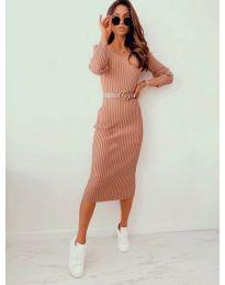 Φόρεμα - κώδ. 5878 - μπεζ