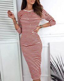 Φόρεμα - κώδ. 4081 - κόκκινο