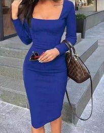 Φόρεμα - κώδ. 4521 - σκούρο μπλε