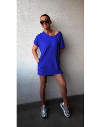 Φόρεμα - κώδ. 3080 - σκούρο μπλε