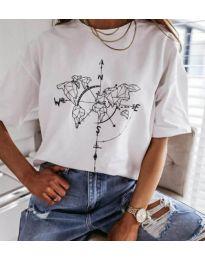 Κοντομάνικο μπλουζάκι - κώδ. 3717 - λευκό