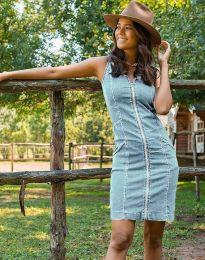 Φόρεμα - κώδ. 7735 - 3 - γαλάζιο