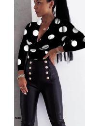 Γυναικείο κορμάκι με εντυπωσιακό ντεκολτέ με ελκυστικό σχέδιο - κωδικός 422-5