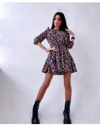Φόρεμα - κώδ. 5910 - 4 - πολύχρωμο
