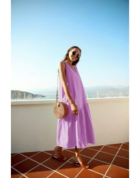 Φόρεμα - κώδ. 8810 - μωβ