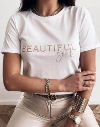 Κοντομάνικο μπλουζάκι - κώδ. 2284 - λευκό