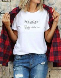 Κοντομάνικο μπλουζάκι - κώδ. 0272 - λευκό