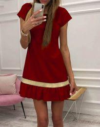 Φόρεμα - κώδ. 2532 - 4 - μπορντό