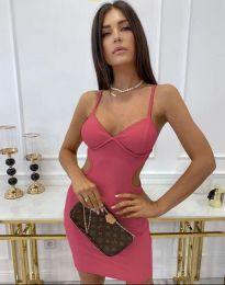 Φόρεμα - κώδ. 11808 - ροζ