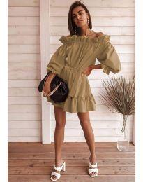 Φόρεμα - κώδ. 3386 - καφέ